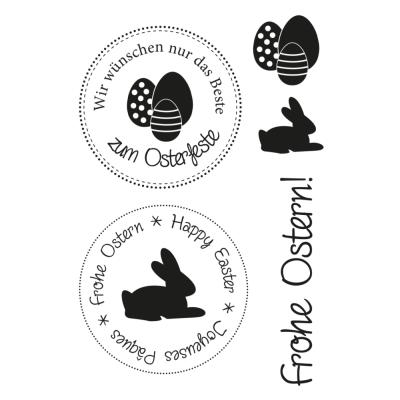 Efco (147) clear stamps Stempel Set - Ostern 1 Frohe Ostern Happy Easter