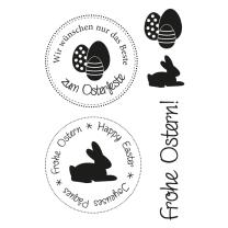 Efco (147) clear stamps Stempel Set - Ostern 1 Frohe...
