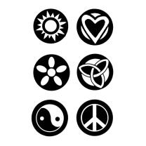 Efco (146) clear stamps Stempel Set - Symbole Frieden