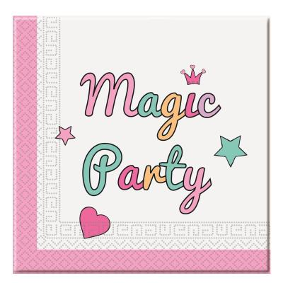 36-teiliges Party-Set Einhorn Magic Party - Unicorn - Teller Becher Servietten für 8 Kinder