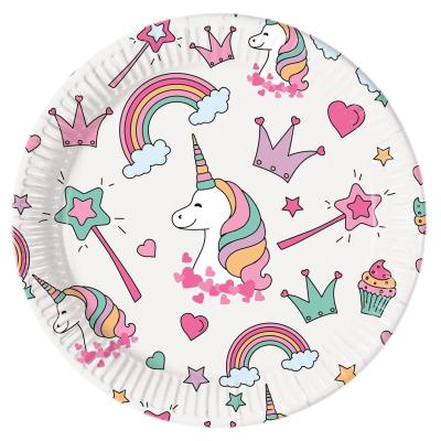 52-teiliges Party-Set Einhorn Magic Party - Unicorn - Teller Becher Servietten für 16 Kinder