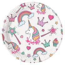 Einhorn Magic Party - Unicorn - 8 Teller,  23 cm