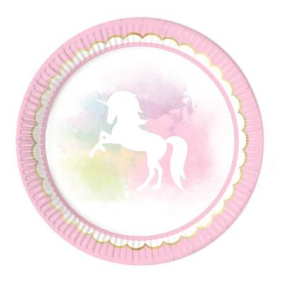 36-teiliges Party-Set Einhorn  - Believe in Unicorn - Teller Becher Servietten für 8 Kinder