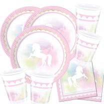 52-teiliges Party-Set Einhorn - Believe in Unicorn -...