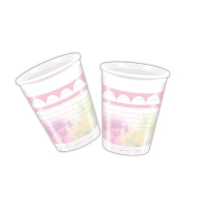Einhorn - Believe in Unicorn - 8 Becher, 0,2 l Plastik