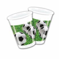 Fußball Party  - 8  Becher,  0,2 l Plastik