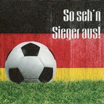 Fußball Party So sehn Sieger aus  - 20 Servietten,...