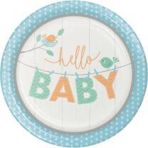48-teiliges Party-Set Baby shower - Hello Baby Boy Teller...