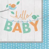 Baby Party Baby shower -  Hello Baby Boy - Servietten, 16...