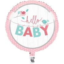 Baby Party Baby shower -  Hello Baby Girl - Folienballon...