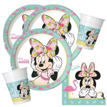 36-teiliges Party-Set Minnie Mouse - Minnie Tropical...