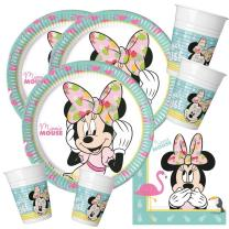 52-teiliges Party-Set Minnie Mouse - Minnie Tropical...