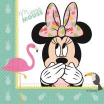 Servietten , 20 Stück -  Minnie Mouse - MinnieTropical