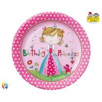 Rachel Ellen Prinzessin - 8 Pappteller,  23 cm