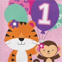 Mein 1. Geburtstag Mädchen  - One is fun -...