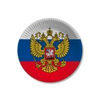 Russland - Teller - Pappteller 10 Stück, 23 cm