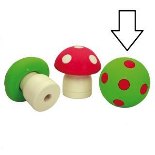 Pilz mit Anspitzer grün